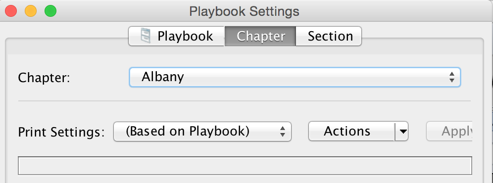 Playbook Settings Chapter