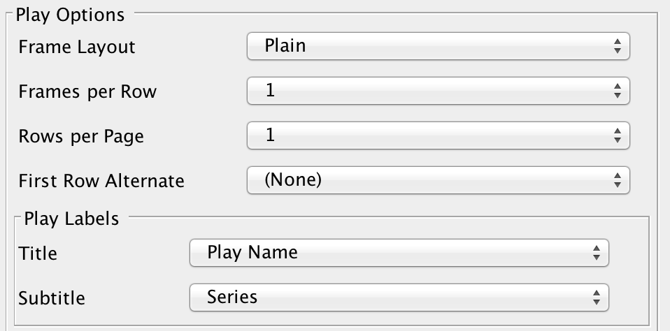 Playbook Settings Play Options