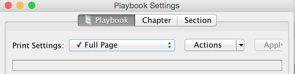 Playbook Settings Tabs