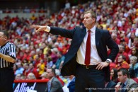 Feb. 26, 2014 - Ames, Iowa, United States of America - February 26th., 2014: Iowa State head coach Fred Hoiberg in action during the NCAA basketball game between the Iowa State Cyclones and the West Virginia Mountaineers at Hilton Coliseum in Ames, Iowa..Ke Lu/CSM(Credit Image: © Ke Lu/Cal Sport Media/ZUMAPRESS.com)