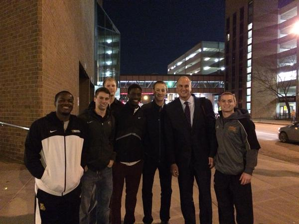 Final 4 with my friends. Also pictured: Jay Bilas