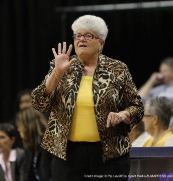 Sept. 28, 2012 - Indianapolis, Indiana, United States - September 28 2012: Indiana Fever head coach Lin Dunn during a game between the Atlanta Dream and the Indiana Fever at Bankers Life Fieldhouse in Indianapolis, Indiana.(Credit Image: � Pat Lovell/Cal Sport Media/ZUMAPRESS.com)