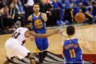 March 24, 2015 - STEPHEN CURRY (30) makes a pass. The Portland Trail Blazers play the Golden State Warriors at the Moda Center on March 24, 2015. (Credit Image: � David Blair/ZUMA Wire)
