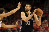 April 27, 2015 - MARC GASOL (33) looks to pass. The Portland Trail Blazers play the Memphis Grizzlies at the Moda Center on April 27, 2015. (Credit Image: � David Blair/ZUMA Wire)