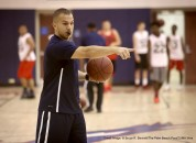 Jan. 12, 2015 - Florida, U.S. - Forest Hill High School basketball coach Nate Vera leads varsity  practice on Monday, January 12, 2015. ''This is my second year as coach,'' he said. ''All of our assistants are locally grown. We are all under 27. (Credit Image: © Bruce R. Bennett/The Palm Beach Post/ZUMA Wire)