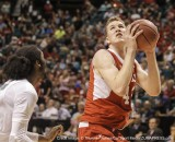 Mar 13, 2015 Las Vegas, NV : Utah F # 42 Jakob Poeltl on the rebound during NCAA Pac 12 Men's Basketball Tournament between Utah Utes and Oregon Ducks 64-67 lost at MGM Grand Garden Arena Las Vegas, NV.(Credit Image: © Thurman James/Cal Sport Media/ZUMAPRESS.com)