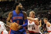 Nov. 8, 2015 - November 08, 2015; Portland, OR, USA; ANDRE DRUMMOND (0) looks to pass at the Moda Center.  Photo by David Blair (Credit Image: � David Blair via ZUMA Wire)