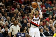 Dec. 3, 2015 - DAMIAN LILLARD (0) dunks the ball. The Portland Trail Blazers hosted the Indiana Pacers at the Moda Center.  Photo by David M. Blair (Credit Image: � David Blair via ZUMA Wire)