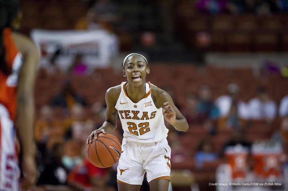 December 27, 2015: Texas Longhorns Tasia Foman #22 in action during the NCAA Women's Basketball game between Sam Houston State at the Frank Erwin Center in Austin, TX.(Credit Image: © Mario Cantu/CSM via ZUMA Wire)