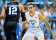 UNC guard Marcus Paige (5) during the NCAA Basketball game between the Duke Blue Devils and the North Carolina Tar Heels at the Dean E. Smith Center on February 17, 2016 in Chapel Hill, North Carolina. Jacob Kupferman/CSM(Credit Image: © Jacob Kupferman/CSM via ZUMA Wire)