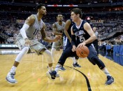 Jan. 16, 2016 - Washington, DC, USA - 20160116 - Villanova guard RYAN ARCIDIACONO (15) dribbles against Georgetown forward ISAAC COPELAND (11) in the first half at the Verizon Center in Washington. (Credit Image: � Chuck Myers via ZUMA Wire)