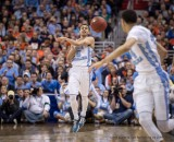 March 12, 2016 - Washington Dc, U.S - North Carolina Tar Heels guard MARCUS PAIGE (5) passes the ball downcourt during the finals in the ACC Men's Basketball tournament. North Carolina beat Virginia 61-57 at the Verizon Center in Washington, DC. (Credit Image: � Tom Rothenberg via ZUMA Wire)