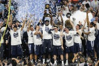April 4, 2016 - Houston, TX, USA - Villanova beats North Carolina 77-74 to win the NCAA Championship game on Monday, April 4, 2016, at NRG Stadium in Houston. (Credit Image: � Steven M. Falk/TNS via ZUMA Wire)
