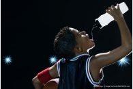 Dec. 13, 2012 - Boy basketball player drinking water (Credit Image: � Image Source/ZUMAPRESS.com)