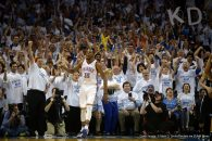 May 9, 2016 - Oklahoma City, OK, United States - May 8, 2016; Oklahoma City, OK, USA; Oklahoma City Thunder forward Kevin Durant (35) reacts after a play against the San Antonio Spurs during the fourth quarter in game four of the second round of the NBA Playoffs at Chesapeake Energy Arena. Mandatory Credit: Mark D. Smith-USA TODAY Sports     TPX IMAGES OF THE DAY (Credit Image: � Mark D. Smith/Reuters via ZUMA Press)