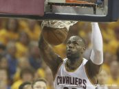May 17, 2016 - Cleveland, OH, USA - The Cleveland Cavaliers' LeBron James throws down a second-quarter dunk against the Toronto Raptors in Game 1 of the Eastern Conference finals on Tuesday, May 17, 2016, at Quicken Loans Arena in Cleveland. The Cavs won, 115-84. (Credit Image: � Phil Masturzo/TNS via ZUMA Wire)