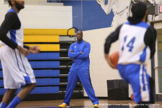 Jan. 27, 2016 - Toronto, ON, Canada - TORONTO, ON - JANUARY 27  -     - Ryerson Rams Mens Basketball team interim Head Coach, Patrick Tatham(all in blue) watching his players at the team practice held at Mattamy Athletic Centre. Vince Talotta/Toronto Star (Credit Image: � Vince Talotta/The Toronto Star via ZUMA Wire)