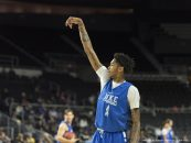 March 16, 2016 - Providence, Rhode Island, U.S - Duke forward, BRANDON INGRAM (14) follows through after a jump shot in practice the day before the first round of the 2016 NCAA Tournament. (Credit Image: � Kevin Sabitus via ZUMA Wire)