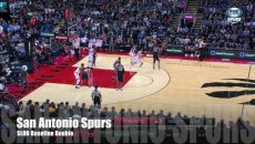 #PlayOTD – San Antonio Spurs SLOB Baseline Double