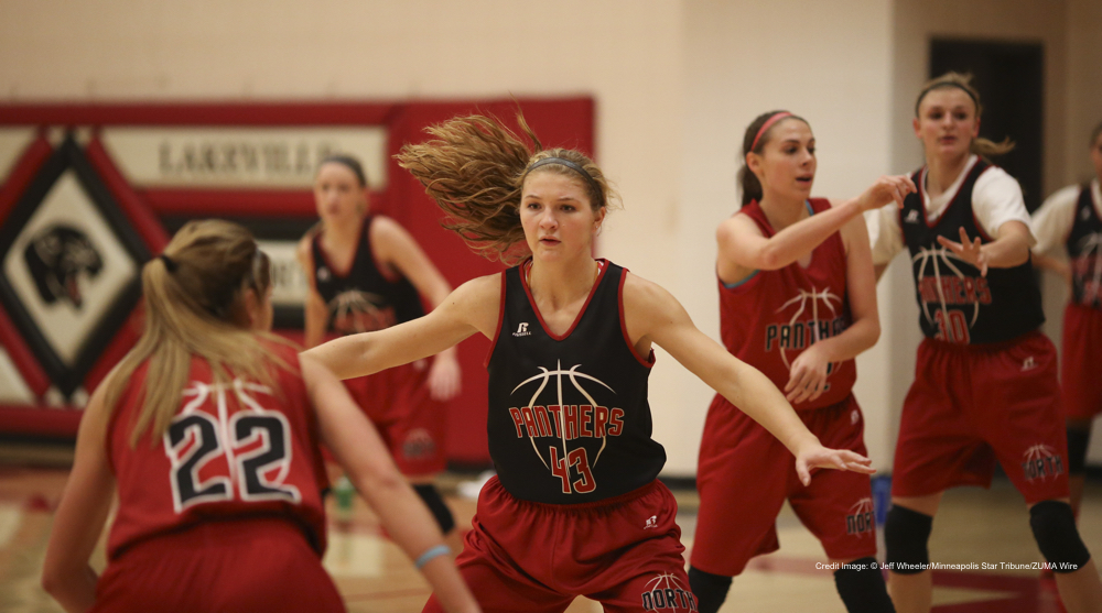 Dec. 22, 2014 - Lakeville, MN, U.S. - MacKenzie Denk (43) during practice Monday afternoon at Lakeville North High School.    ]  JEFF WHEELER •     The Lakeville North girl's basketball team practiced Monday afternoon, December 22, 2014 at the high school. (Credit Image: � Jeff Wheeler/Minneapolis Star Tribune/ZUMA Wire)