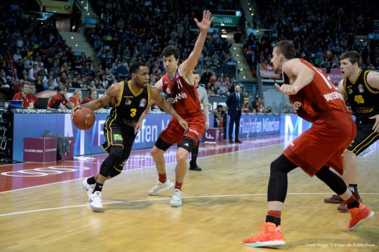 December 18, 2016 - December 18, 2016 - Tekele Cotton (MHP RIESEN Ludwigsburg), Vladimir Lucic (FC Bayern Muenchen Basketball), Ondrej Balvin (FC Bayern Muenchen Basketball), Jack Cooley (MHP RIESEN Ludwigsburg), v.li., Aktion, FC Bayern Muenchen Basketball vs MHP Riesen Ludwigsburg, 18.12.16....Tekele Cotton MHP Giants Ludwigsburg Vladimir Lucic FC Bavaria Munich Basketball Ondrej Balvin FC Bavaria Munich Basketball Jack Cooley MHP Giants Ludwigsburg v left Action shot FC Bavaria Munich Basketball vs MHP Giants Ludwigsburg 18 12 16 (Credit Image: � Imago via ZUMA Press)
