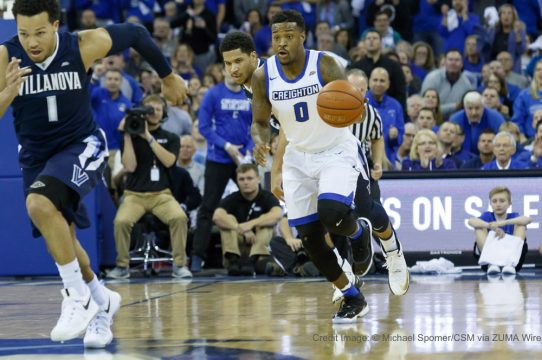 December 31, 2016 - Omaha, NE U.S. - Creighton Bluejays guard Marcus Foster #0 in 1st half transition action during an NCAA men's basketball game between #1 Villanova Wildcats and #10 Creighton Bluejays at the CenturyLink Center in Omaha, NE..Attendance: 18,831 Third-largest crowd in Creighton men's basketball history.Villanova won 80-70.Michael Spomer/Cal Sport Media(Credit Image: © Michael Spomer/CSM via ZUMA Wire)