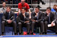 February 16, 2017 - St. Petersburg, Russia, Russia - February 16, 2017. St. Petersburg, Russia. BC Zenit v BC CSKA. VTB united league 2016-17. The coaching staff of BC CSKA. (Credit Image: � Russian Look via ZUMA Wire)