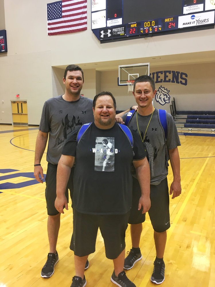 Matt Goldsmith, left, is the active head coach at The College of New Jersey, and both a former national champion and professional player. Casey Fields, right, is both an ordained minister and youth basketball coach from the San Francisco area.