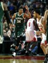 December 16, 2016 - Chicago, IL, USA - The Milwaukee Bucks' Giannis Antetokounmpo (34) celebrates after scoring in the first half against the Chicago Bulls at the United Center in Chicago on Friday, Dec. 16, 2016. (Credit Image: © Chris Sweda/TNS via ZUMA Wire)