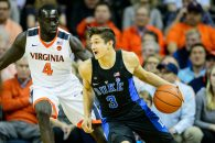 Duke guard Grayson Allen (3) during the NCAA Basketball game between the Duke Blue Devils and the Virginia Cavaliers at John Paul Jones Arena on Wednesday February 15, 2017 in Charlottesville, VA. Jacob Kupferman/CSM(Credit Image: © Jacob Kupferman/CSM via ZUMA Wire)