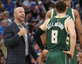 November 27, 2016 - Orlando, FL, USA - Milwaukee Bucks head coach Jason Kidd talks to guard Matthew Dellavedova (8) during a game against the Orlando Magic on Sunday, Nov. 27, 2016 at the Amway Center in Orlando, Fla. (Credit Image: © Stephen M. Dowell/TNS via ZUMA Wire)