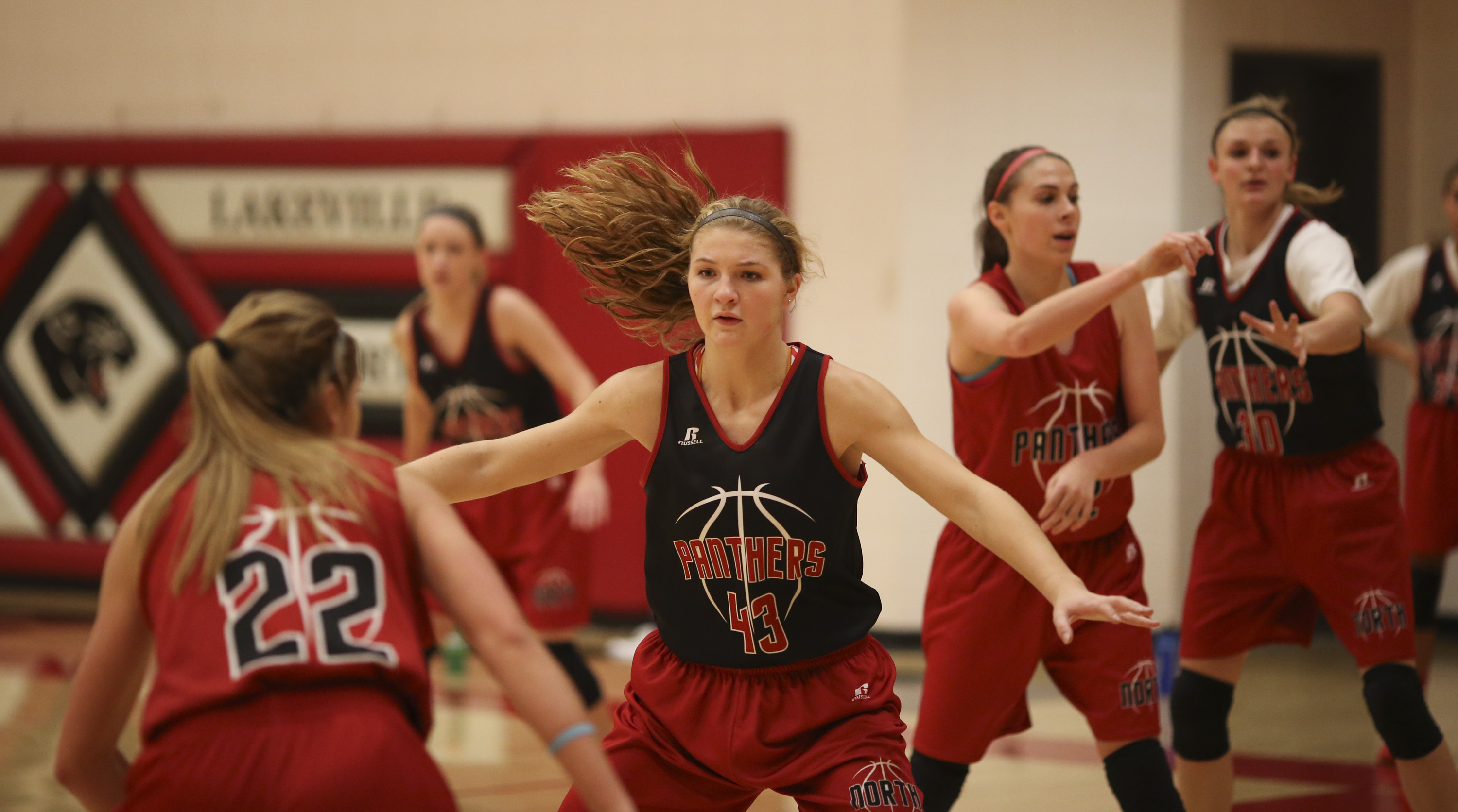 Dec. 22, 2014 - Lakeville, MN, U.S. - MacKenzie Denk (43) during practice Monday afternoon at Lakeville North High School.    ]  JEFF WHEELER •     The Lakeville North girl's basketball team practiced Monday afternoon, December 22, 2014 at the high school. (Credit Image: © Jeff Wheeler/Minneapolis Star Tribune/ZUMA Wire)