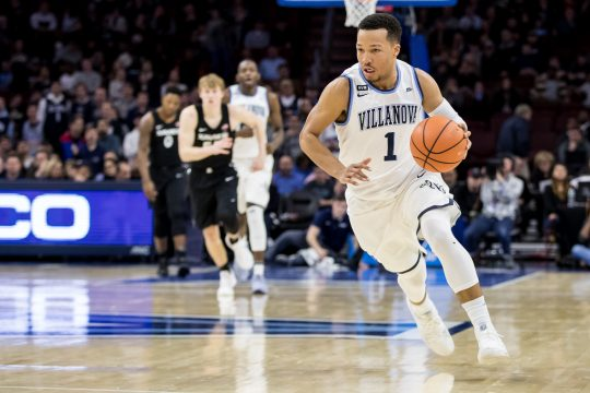 January 10, 2018: Villanova Wildcats guard Jalen Brunson (1) in action during the NCAA basketball game between the Xavier Musketeers and the Villanova Wildcats at the Wells Fargo Center in Philadelphia, Pennsylvania. The Villanova Wildcats won 89-65. Christopher Szagola/CSM(Credit Image: © Chris Szagola/CSM via ZUMA Wire)