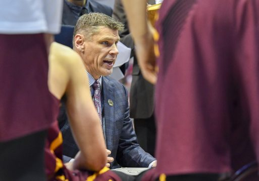 March 17, 2018: Loyola (Il) Ramblers head coach Porter Moser in the second round of the NCAA March Madness Men's Basketball game between the Tennessee Volunteers and the Loyola Chicago Ramblers at the American Airlines Center in Dallas, TX Loyola defeated Tennessee 62-63 Albert Pena/CSM(Credit Image: © Albert Pena/CSM via ZUMA Wire)