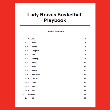 Playbook cover