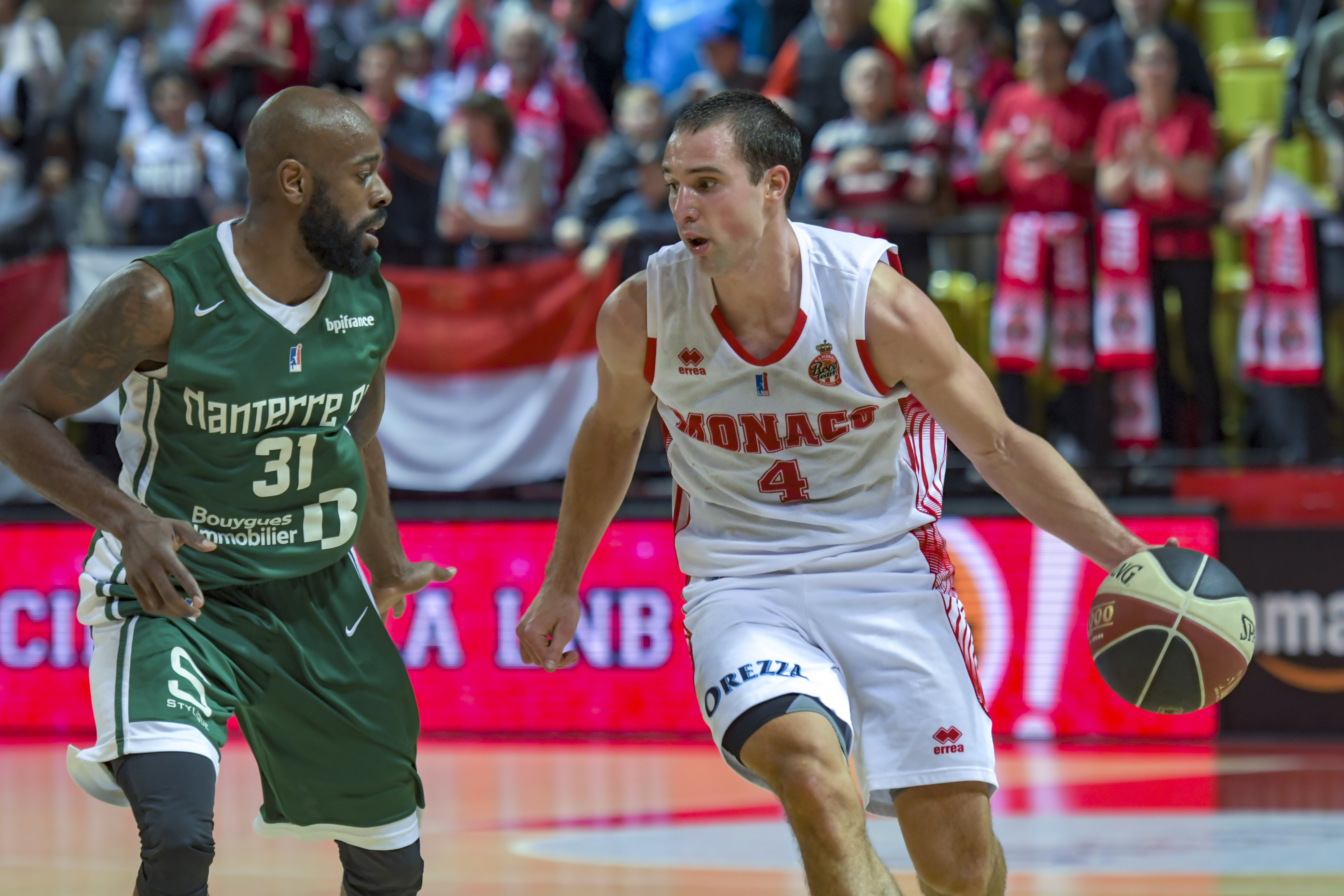 March 21, 2018 - Monaco, France - Aaron Craft (AS Monaco) - Jamar Wilson  (Credit Image: © Panoramic via ZUMA Press)