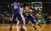 BOSTON, MA - JANUARY 18:  Ben Simmons #25 of the Philadelphia 76ers dribbles the ball during the second half against the Boston Celtics at TD Garden on January 18, 2018 in Boston, Massachusetts.  (Photo by Tim Bradbury/Getty Images)
