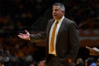 February 9, 2016: head coach Bruce Pearl of the Auburn Tigers during the NCAA basketball game between the University of Tennessee Volunteers and the Auburn University Tigers at Thompson Boling Arena in Knoxville TN Tim Gangloff/CSM(Credit Image: © Tim Gangloff/CSM via ZUMA Wire)