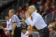 March 7, 2018 - Kansas City, MO, U.S. - KANSAS Kansas City, MO - MARCH 07: Texas Longhorns head coach Shaka Smart shouts instructions to his team in the first half of a first round matchup in the Big 12 Basketball Championship between the Iowa State Cyclones and Texas Longhorns on March 7, 2018 at Sprint Center in Kansas City, MO. (Photo by Scott Winters/Icon Sportswire) (Credit Image: © Scott Winters/Icon SMI via ZUMA Press)