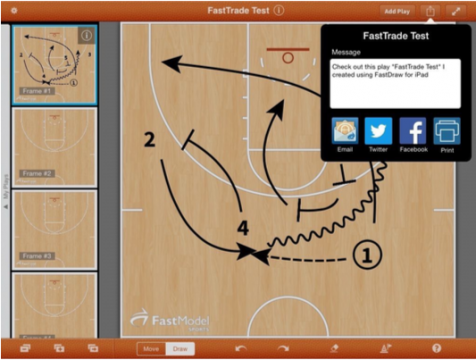 FastDraw iPad Sharing feature