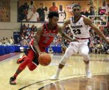 November 17, 2018 - Arizona Wildcats guard Brandon Williams #2 drives by Gonzaga Bulldogs guard Zach Norvell Jr. #23 during a Maui Invitational game between the Gonzaga Bulldogs and the Arizona Wildcats at the Lahaina Civic Center in Lahaina, Maui, HI - Michael Sullivan/CSM(Credit Image: © Michael Sullivan/CSM via ZUMA Wire)