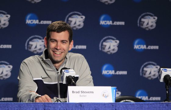 March 20, 2013 - Lexington, KY, USA - Butler head coach Brad Stevens answers questions during a news conference as the team prepares for the second round of the NCAA Tournament in Rupp Arena in Lexington, Kentucky, on Wednesday, March 20, 2013. Butler plays Bucknell on Thursday. (Credit Image: © Pablo Alcala/TNS/ZUMAPRESS.com)