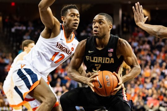Florida State Seminoles guard Trent Forrest (3) during the NCAA College Basketball game between the Florida State Seminoles and the Virginia Cavaliers at John Paul Jones Arena on Saturday January 5, 2019 in Charlottesville, VA. Jacob Kupferman/CSM(Credit Image: © Jacob Kupferman/CSM via ZUMA Wire)