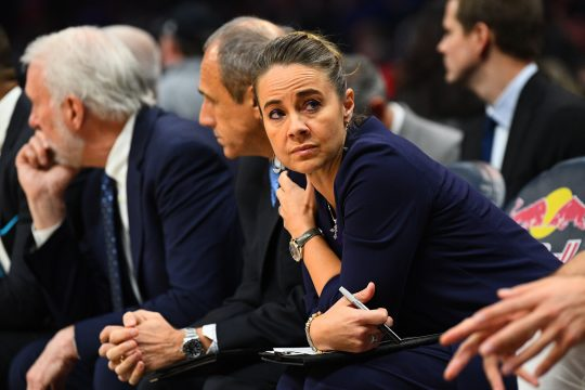 December 29, 2018 - Los Angeles, CA, U.S. - LOS ANGELES, CA - DECEMBER 29: San Antonio Spurs assistant coach Becky Hammon looks on during a NBA game between the San Antonio Spurs and the Los Angeles Clippers on December 29, 2018 at STAPLES Center in Los Angeles, CA. (Photo by Brian Rothmuller/Icon Sportswire) (Credit Image: © Brian Rothmuller/Icon SMI via ZUMA Press)
