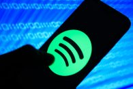 February 10, 2019 - Krakow, Poland - Spotify logo is seen on an android mobile phone. (Credit Image: © Omar Marques/SOPA Images via ZUMA Wire)