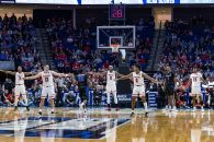 March 24, 2019 - Tulsa, Oklahoma, U.S - Texas Tech Red Raiders players set up a zone defense after a timeout in the second round game between the Buffalo Bulls and the Texas Tech Red Raiders at the BOK Center, Tulsa, Oklahoma. (Credit Image: © Scott Stuart/ZUMA Wire)