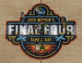April 5, 2019 - Tampa, Florida, U.S. - DIRK SHADD   |   Times.The Oregon Ducks and Baylor Lady Bears are seen during the start of the NCAA Women's Final Four semi-final game Friday, April 5, 2019 in Tampa. (Credit Image: © Dirk Shadd/Tampa Bay Times via ZUMA Wire)