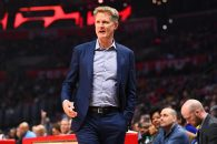 November 12, 2018 - Los Angeles, CA, U.S. - LOS ANGELES, CA - NOVEMBER 12: Golden State Warriors head coach Steve Kerr looks on during a NBA game between the Golden State Warriors and the Los Angeles Clippers on November 12, 2018 at STAPLES Center in Los Angeles, CA. (Photo by Brian Rothmuller/Icon Sportswire) (Credit Image: © Brian Rothmuller/Icon SMI via ZUMA Press)