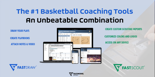 FastDraw, FastScout, FastModel Sports, basketball coaches, software, tech, scouting report, playbook, plays, XsOs