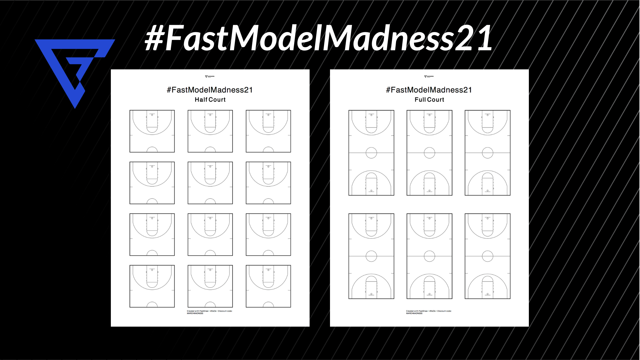 printable blank diagram sheet FastDraw basketball